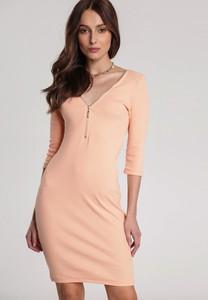 Pomarańczowa sukienka Renee dopasowana mini