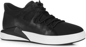 Czarne buty sportowe Wittchen ze skóry
