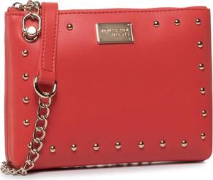 Czerwona torebka Trussardi Jeans zdobiona