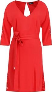 Sukienka Elisabetta Franchi z długim rękawem