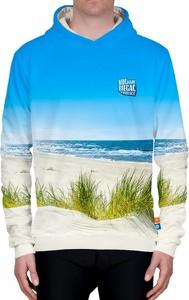 Niebieska bluza Power Canvas z bawełny w młodzieżowym stylu
