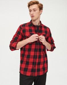 Czerwona koszula Cropp z długim rękawem