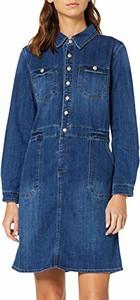 Sukienka amazon.de z długim rękawem mini koszulowa