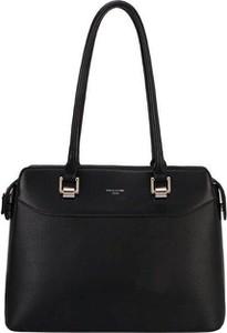 Czarna torebka David Jones średnia