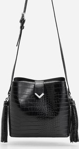 Czarna torebka Reserved w stylu boho