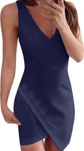 Sukienka Sandbella asymetryczna z dekoltem w kształcie litery v