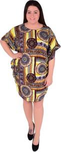 Sukienka Dedra z okrągłym dekoltem mini w stylu casual