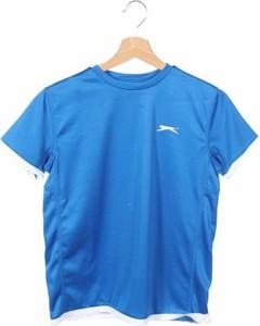 Niebieska koszulka dziecięca Slazenger z krótkim rękawem