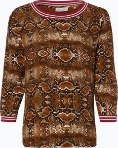 Bluzka Rich & Royal z okrągłym dekoltem w stylu skandynawskim