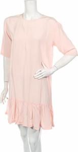 Różowa sukienka Designers Remix By Charlotte Eskildsen mini z długim rękawem w stylu casual