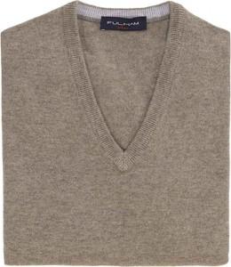 Brązowy sweter Fulham w stylu casual z dżerseju