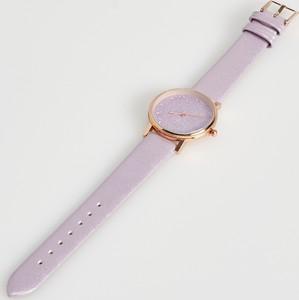 Sinsay - Zegarek z brokatową tarczą - Fioletowy