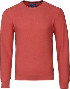 Czerwony sweter Redmond z okrągłym dekoltem
