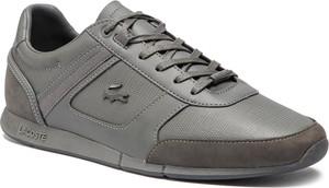 Buty sportowe Lacoste z nubuku sznurowane