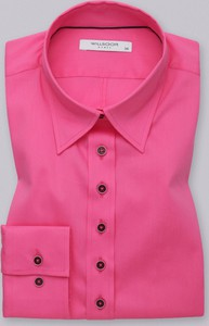 Różowa koszula Willsoor w stylu casual