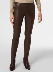 Brązowe spodnie MAC w rockowym stylu