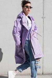 Różowy płaszcz REST_FActory z tkaniny w stylu casual