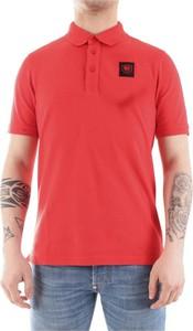 Czerwony t-shirt Blauer Usa w stylu casual z bawełny