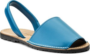 Niebieskie sandały sergio bardi ze skóry w stylu casual