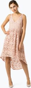 Różowa sukienka Vila asymetryczna midi