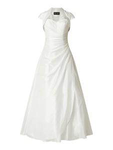 Sukienka Luxuar z tiulu rozkloszowana z dekoltem w kształcie litery v