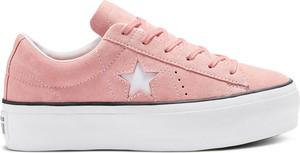 Różowy top Converse ze skóry w stylu vintage