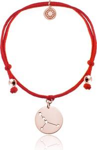 Lian Art Bransoletka damska Konstelacje - sznurek i znak zodiaku - rose gold