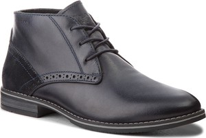 Czarne buty zimowe Lasocki For Men w stylu casual