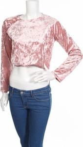 Różowa bluzka Love Culture z długim rękawem