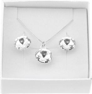 Lian Art Srebrny komplet biżuterii z kryształami Swarovski® - Rivoli - rodowany