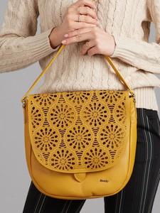 Żółta torebka Rovicky na ramię ze skóry