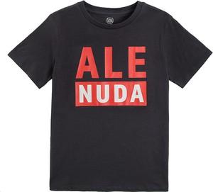 Czarna koszulka dziecięca Cool Club z krótkim rękawem dla chłopców