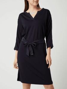 Czarna sukienka S.Oliver Black Label w stylu casual mini z dekoltem w kształcie litery v