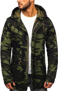 Zielona kurtka Denley w militarnym stylu
