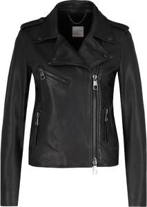 Czarna kurtka BOSS Casual w stylu casual ze skóry