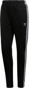 Czarne legginsy Adidas z bawełny w młodzieżowym stylu
