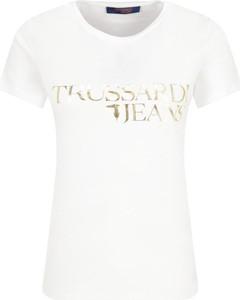 T-shirt Trussardi Jeans z okrągłym dekoltem z krótkim rękawem z bawełny