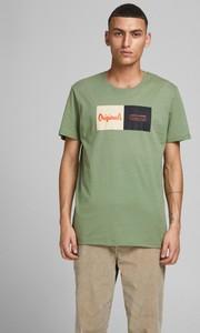 Zielony t-shirt WARESHOP z bawełny z krótkim rękawem