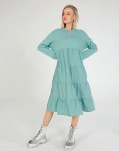Sukienka Unisono midi z długim rękawem w stylu casual