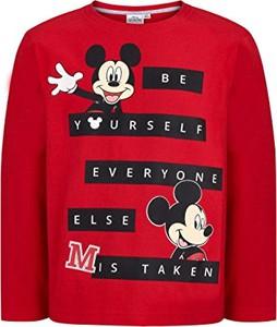 Czerwona koszulka dziecięca Disney z długim rękawem