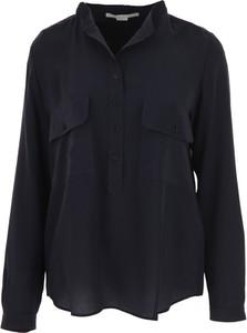Granatowa koszula Stella McCartney z długim rękawem z jedwabiu