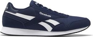 Granatowe buty sportowe Reebok z zamszu sznurowane