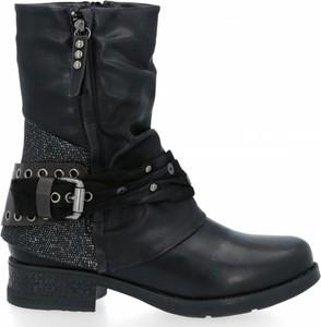 Botki Crystal Shoes na zamek