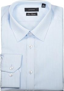 Niebieska koszula Lavard z bawełny z długim rękawem