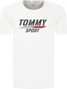 T-shirt Tommy Sport w młodzieżowym stylu z krótkim rękawem