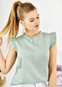 Bluzka Fason w stylu casual z okrągłym dekoltem