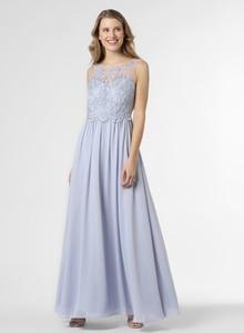 Niebieska sukienka Marie Lund z dekoltem w kształcie litery v