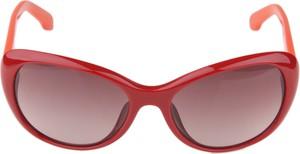 Czerwone okulary damskie Calvin Klein
