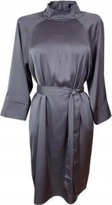 Sukienka Selected Femme z satyny z długim rękawem