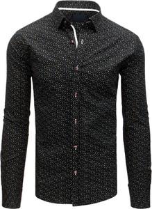 Czarna koszula Dstreet z długim rękawem z bawełny